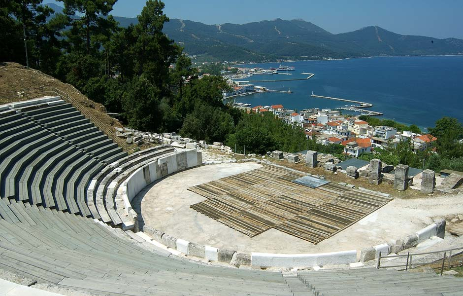 Thasos ancient theater